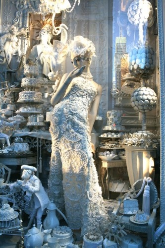 bergdorf window NYC. Reminds me of Great Expectations