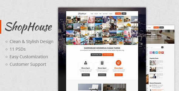 ShopHouse: Premium PSD Template
