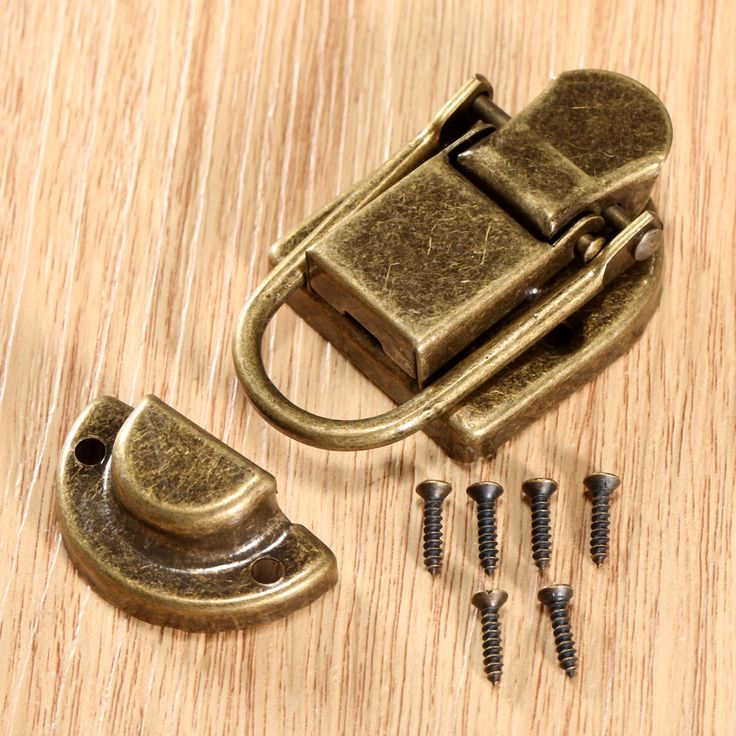 1Pc 60x34mm Antique Brass Iron Latch Decorative Jewelry Gift Wine Wooden Box Suitcase Case Hasp Latch Hook Vintage Hardware