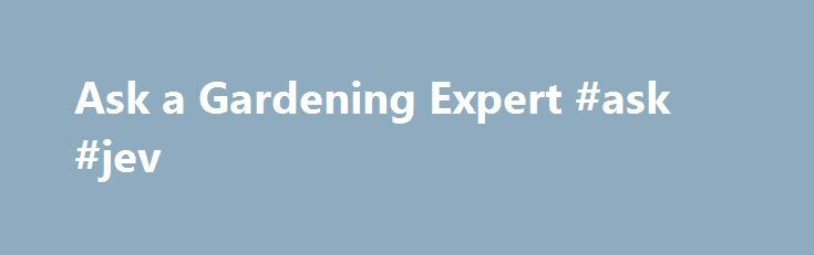 Ask a Gardening Expert #ask #jev http://ask.nef2.com/2017/04/30/ask-a-gardening-expert-ask-jev/  #ask an expert # Ask a Gardening Expert Have a plant or pest question? University of Maryland Extension's experts have answers! Please enter as much detail in your question as possible to help us serve you better. In thedescription of your plant problem include relevant details such as: Name, age and/or size of plant When was the problem was first noted What part of the plant is affected? Have…