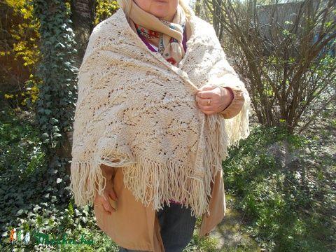 Meska - Csipke gyapjú kendő gulyasgyapju kézművestől