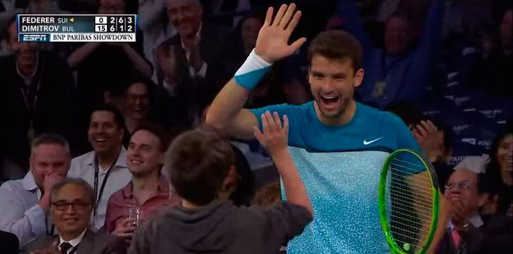 Garoto entra no lugar de profissional em partida de Tênis e faz ponto espetacular em Roger Federer