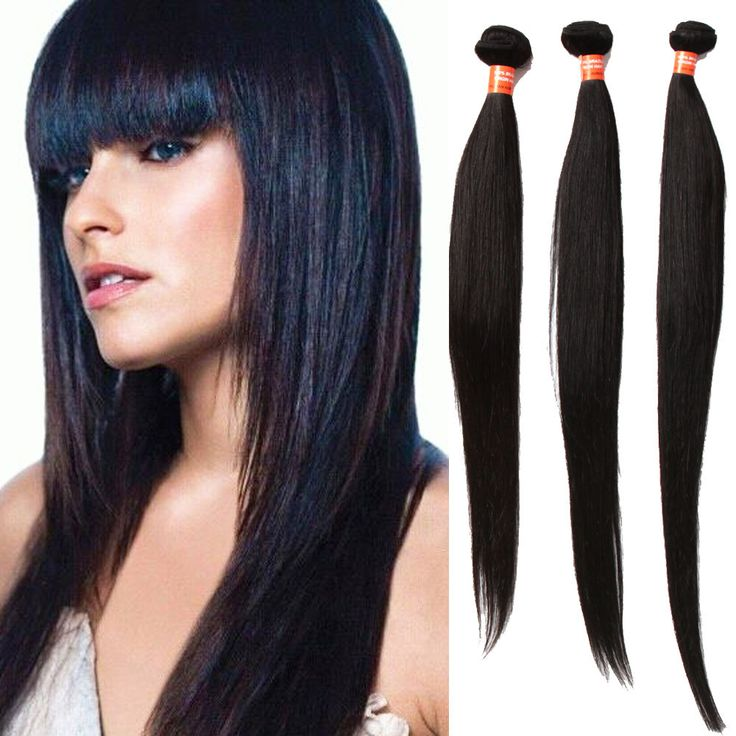 1263 best high quality human hair extension images on pinterest silky straight 100 human hair extensions 100gpc natural black high quality wigiss pmusecretfo Images