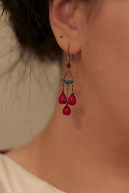 tear drop earrings-lovely