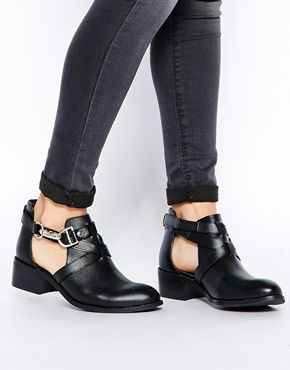 ASOS APOLLO Leather Cut Out Ankle Boots $79