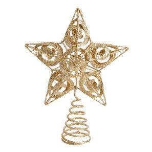 Cime étoile dorée sapin - Déco Noël Gold - Maisons du Monde