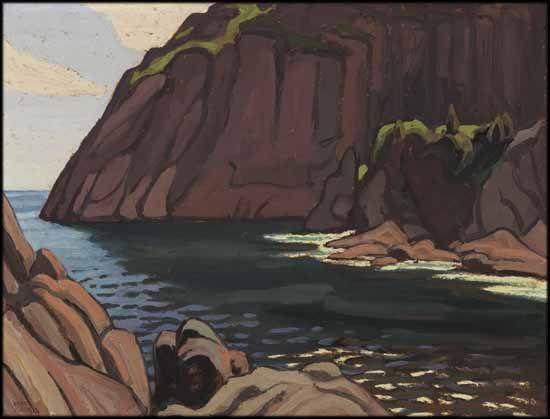 Lawren Stewart Harris - Entrance to Quidi Vidi, Newfoundland 10 1/2 x 13 3/4 oil on board