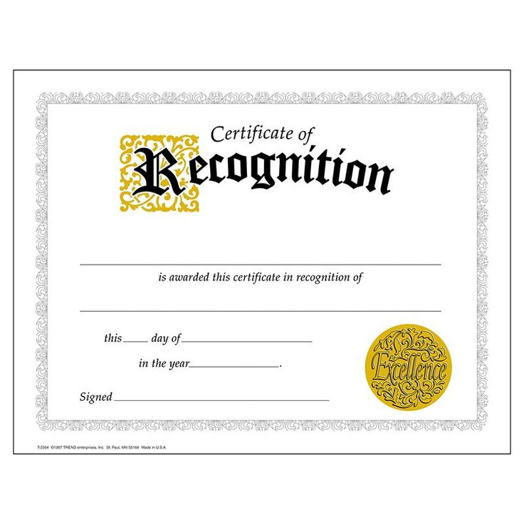 24 best Recognition certificate images on Pinterest Award - certificate of appreciation wordings