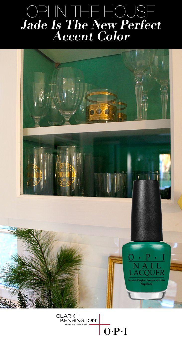 Ace Design Expert Julie Richard is showcasing her recent kitchen makeover using OPI's Jade is the New Black before she entertains for the holidays. Check out the OPI blog to see how you can add a fun, festive and unexpected pop of color into your home this season, courtesy of the OPI Color Palette by Clark+Kensington, available exclusively at Ace Hardware.