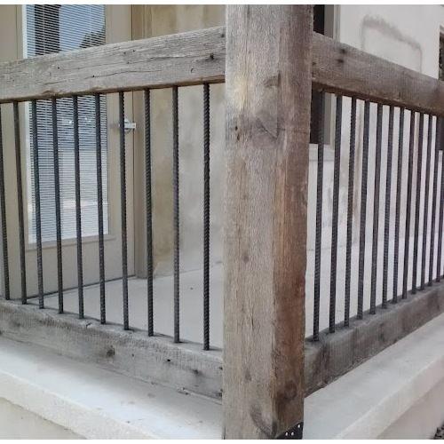 best rebar railing outdoor design ideas remodel pictures houzz rebar gelndergelnderscheunenholzhouzzterrassenporch ideasremodels - Terrassen Gelander Design