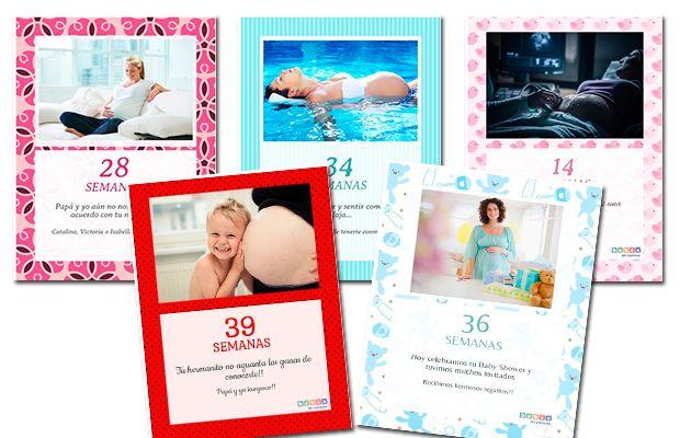 Tarjetas virtuales para guardar los mejores recuerdos de tu embarazo.