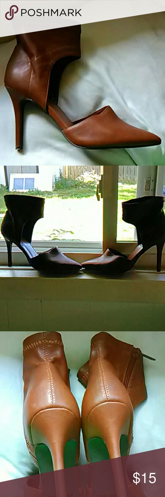 Breckelles heels size 8 Beautiful Chestnut Hills. In good condition very sexy very well-made. These shoes are very comfortable they have a zipper on the side Breckelles Shoes Heels