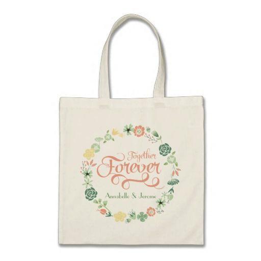 Wedding Pastel Floral Wreath Bags - Sept 3 - #zazzle #junkydotcom #wedding