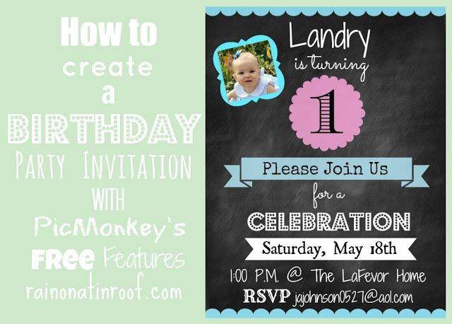 how to create a birthday party invitation with picmonkeys free features