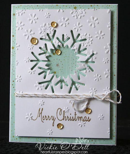 HeARTful Stamper: Holiday Expressions Blog Hop #CTMHOhDeer #SnowflakesEmbossingFolder #ThinCutsSnowflakes