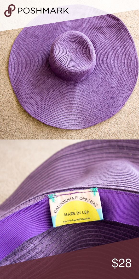 American Apparel purple summer floppy hat Like new American Apparel summer floppy hat! From their multibrand collection. Made with durable and flexible 100% paper construction. American Apparel Accessories Hats