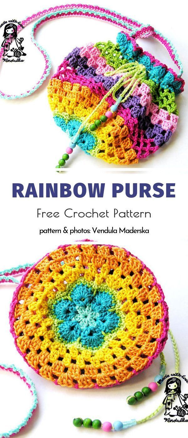 Granny Luggage and Pouches Free Crochet Patterns – #accessoire #baggage #crochet #free…