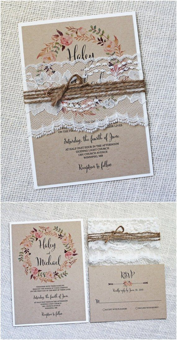 15 Rustic Wedding Invitations from Etsy 148
