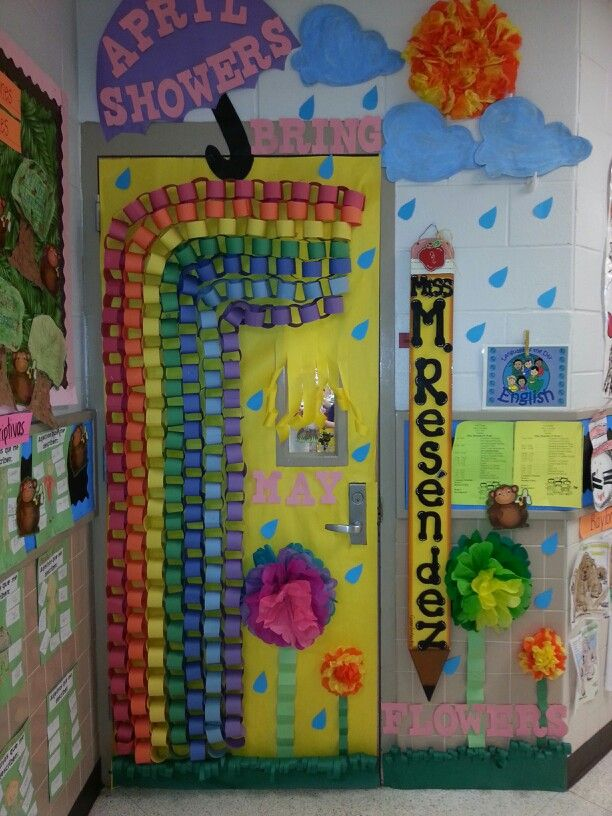 Classroom Decorations For April ~ April classroom door ideas