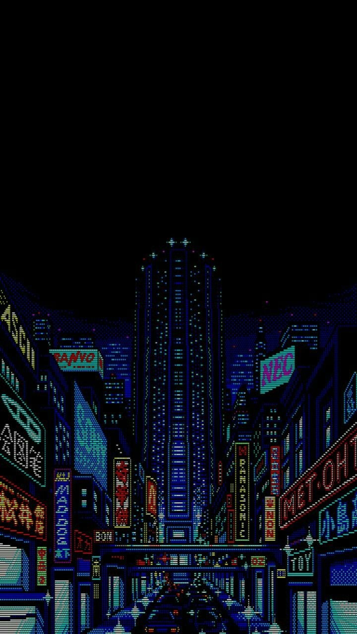 Pin By Angelo Gold On Pixel Art City Lights Wallpaper