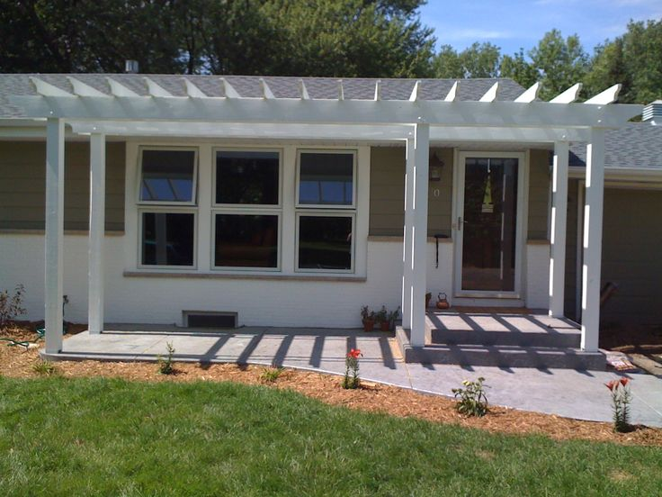 best 25+ front porch pergola ideas on pinterest | pergolas, back ... - Front Patio Designs