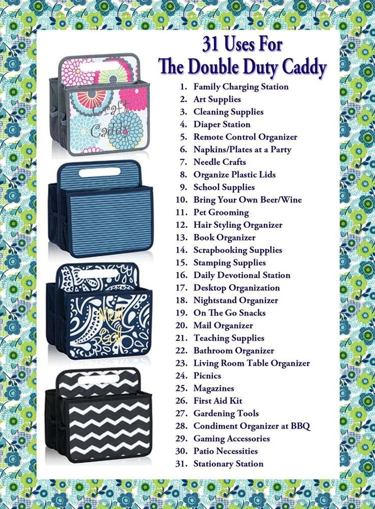 31 Uses for the Double Duty Caddy www.mythirtyone.com/1907021