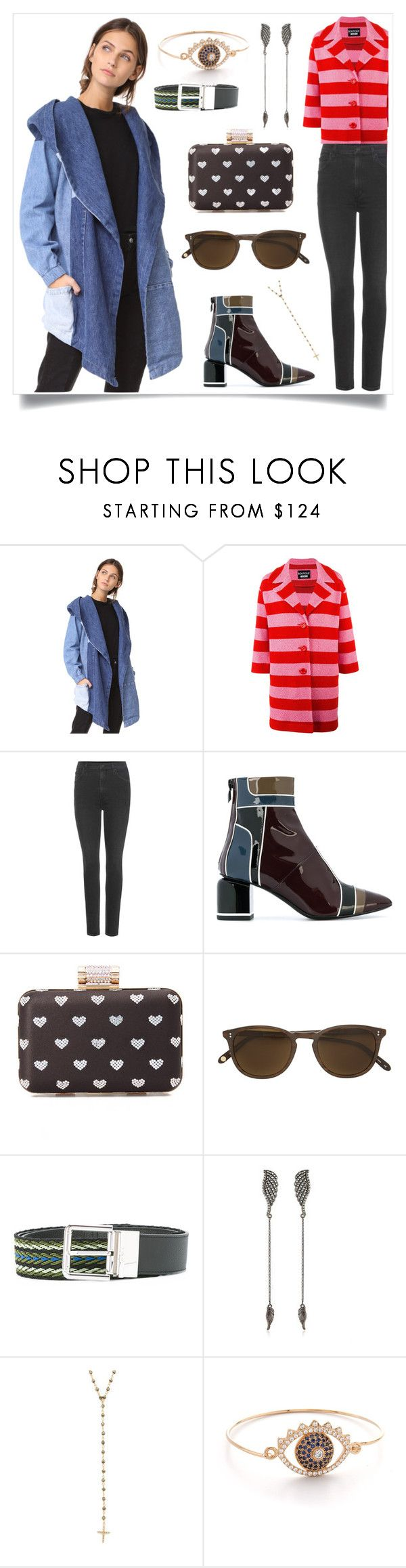 """Hooded Poncho in Pieced Denim..**"" by yagna on Polyvore featuring Pierre Hardy, Federica Tosi and Kenzo"