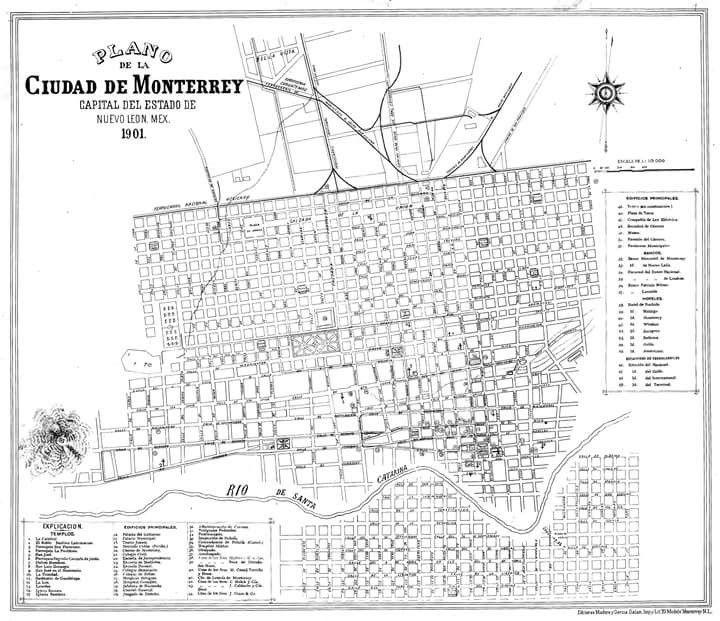 19 ideas de MONTERREY ANTIGUO | ciudad de monterrey ... |Old Monterrey Mexico Map
