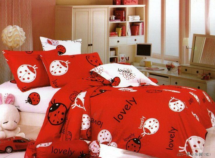 lovely ladybug red ladybug bedding set
