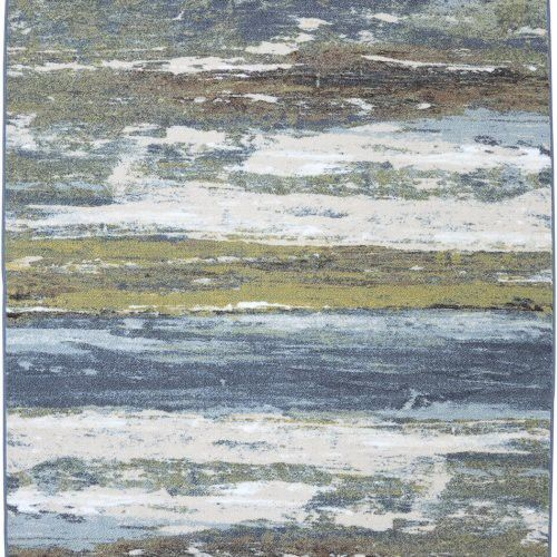 Mohawk Home Abstract Shore Blue Spa Rug