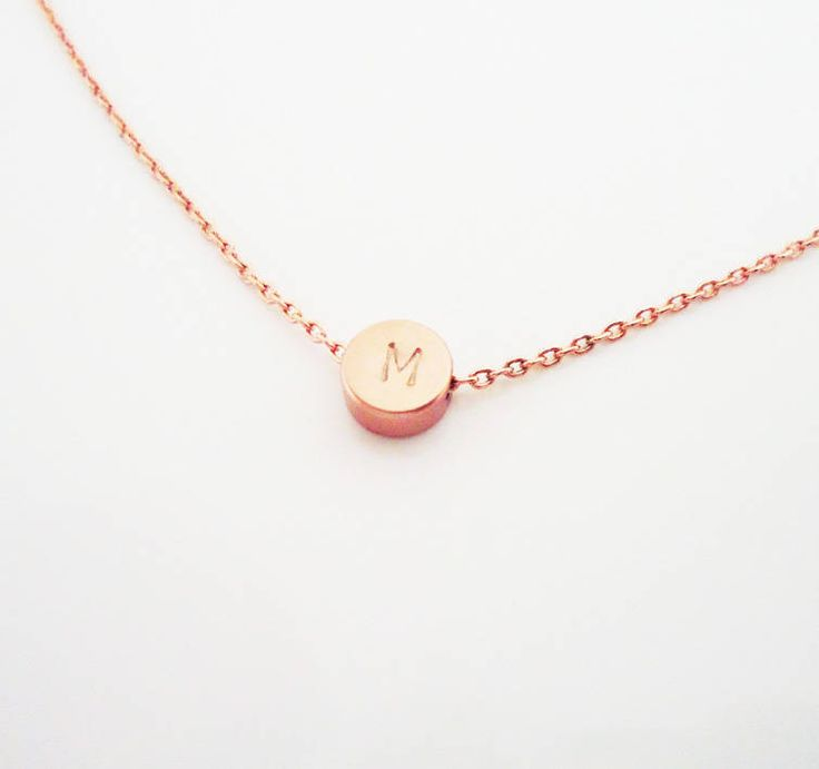 56 best ccona images on pinterest monogram jewelry name rose gold plated 6mm mini disk pendant mini round charmpersonalized initial necklacesinitial aloadofball Images