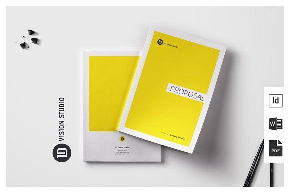 Proposal Template 001 by ID Vision Studio on @creativemarket