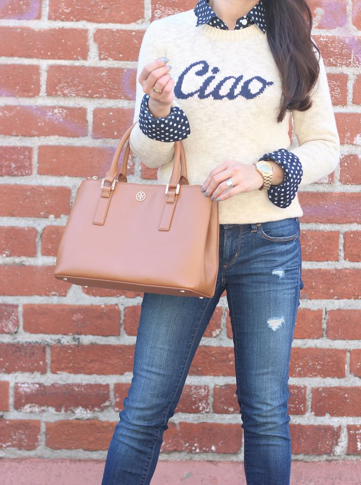 StylishPetite.com | Ciao Sweater and Suede Ankle Boots