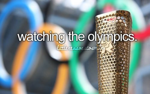 I love watching the Olympics and I cannot wait to see them in person this summer! London 2012!