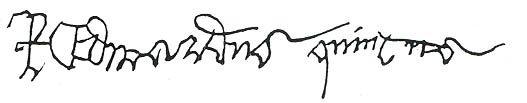 Signature of Edward, Prince of Wales and Richard, Duke of York