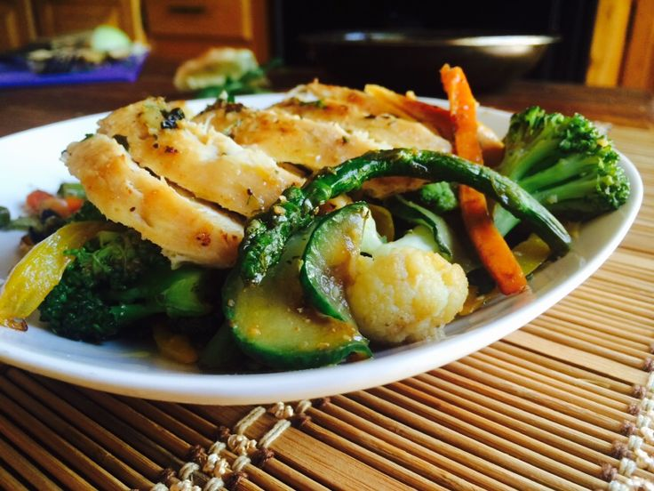 You can never go wrong with simplicity of cooking. A nice lemon chicken breast with mixed vegetables