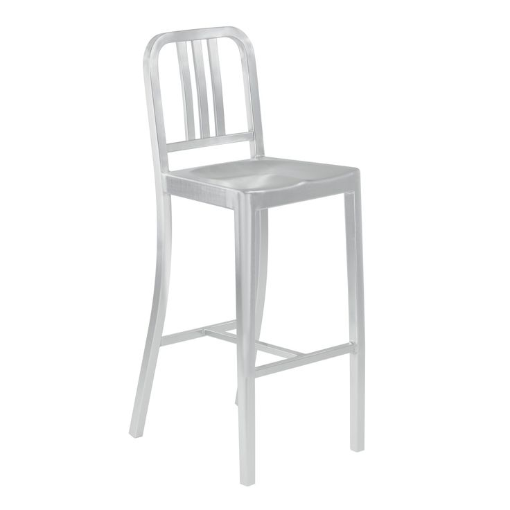 Armen Living Xenia Brushed Industrial Barstool