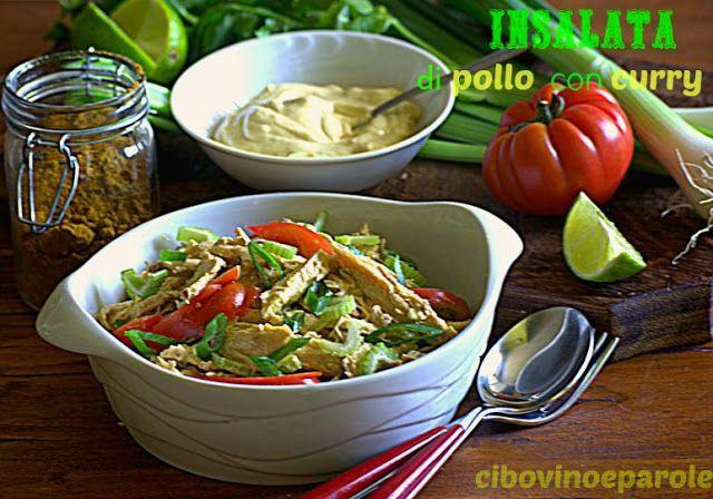 Ricetta dell'insalata di pollo con curry #ricetta di @annamolino