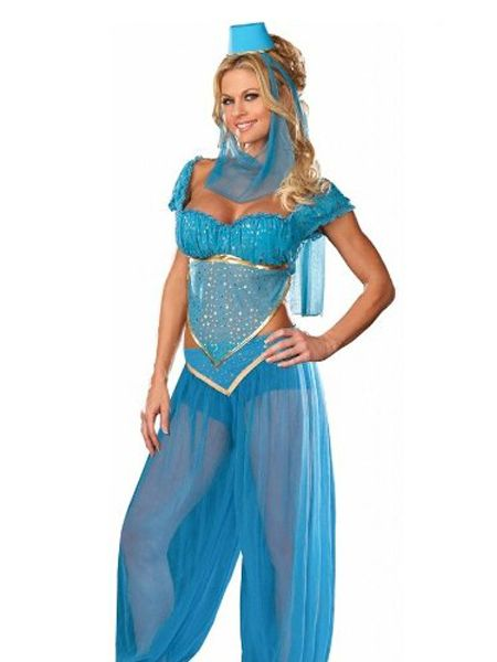 Blue Genie Fancy Dress Costume