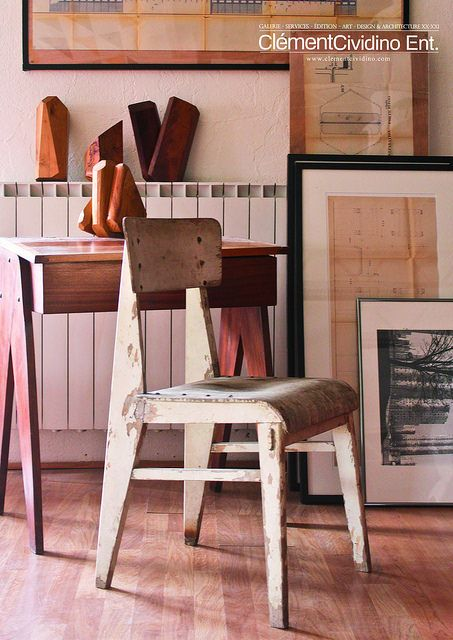 Galerie Clément Cividino Ent. / Design Perpignan / Chaise Jean Prouvé  www.clementcividino.com #design_perpignan #cividino #clement #furniture #candilis #perriand
