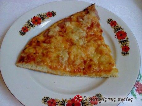 Πίτσα χωρίς μαγιά