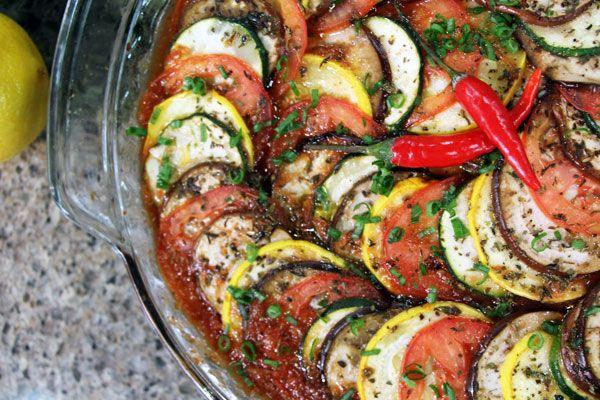 Ratatouille with chorizo sausage