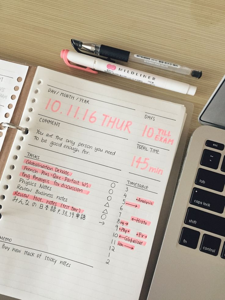 tanya's studyblr — n0tesworthy: My daily planner! Inspired by the...