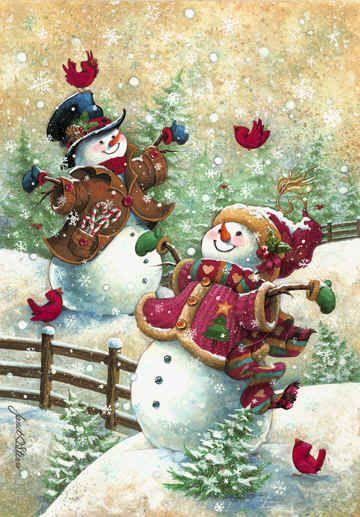 Gotta love snow • artist: Janet Stever on Porterfield's Fine Art
