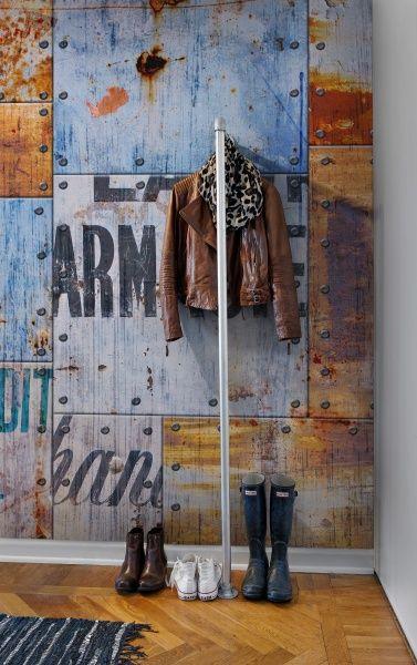 Steel Plates wall murals - wallpaper | Rebel Walls | Industrial style wall mural | Raw industrial wallpaper