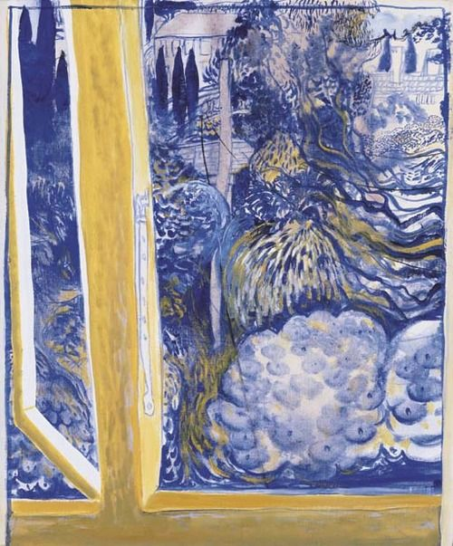 Brett Whiteley (Australian, 1939-1992), View from the Telephone Window, 1976-77. Oil on canvas, 60.5 x 50 cm.