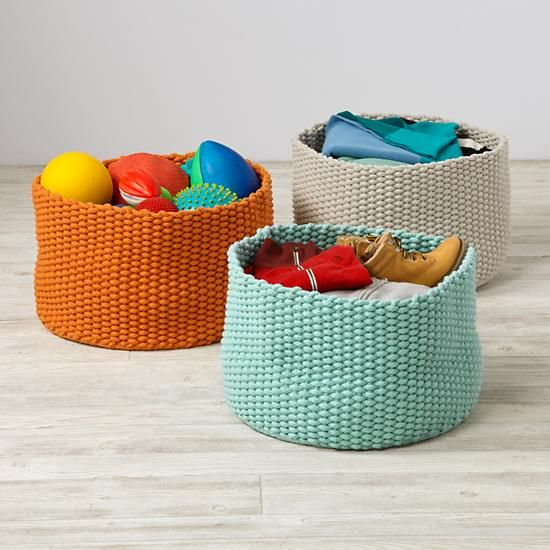 Kneatly Knit Large Rope Bins