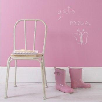 Pintura de pizarra color rosa mariposa - Color de pintura para habitacion ...