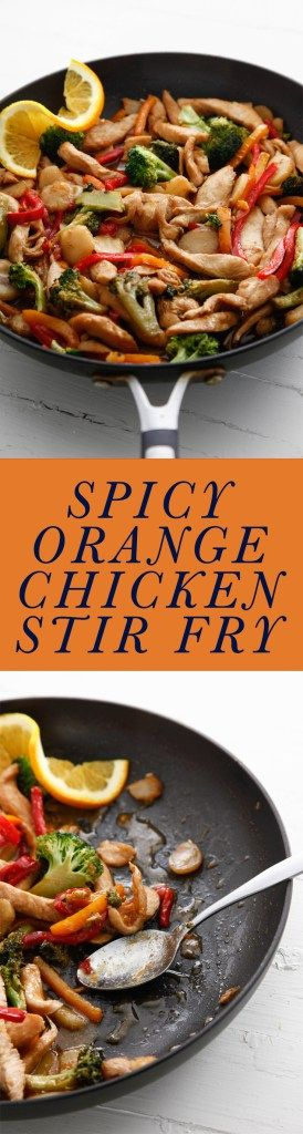 spicy orange chicken stir fry