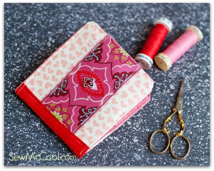 Free Tutorial - Sew your own sewing needle case with this needle case tutorial, embellished with Amy Butler ribbon on the cover and spine.  http://retail.renaissanceribbons.com/c/by-designer_amy-butler